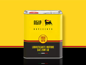 AGIP Novecento engine oil 20W-50 4 litres can
